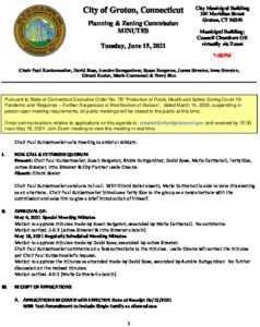 Icon of Planning & Zoning Commission Minutes 06-15-21 FINAL