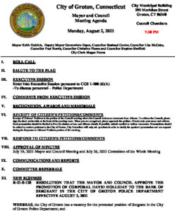 Icon of Mayor And Council Agenda 08-02-21