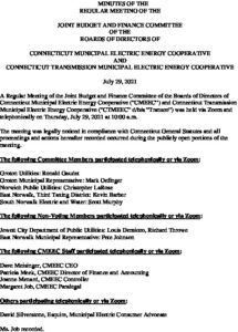 Icon of CMEEC Joint Budget  Finance Committee Minutes 07-29-2021