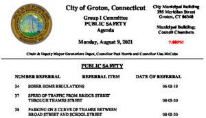 Icon of Group I - Public Safety Agenda 08-09-21