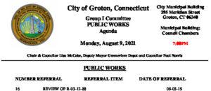Icon of Group I - Public Works Agenda 08-09-21