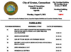Icon of Group II - Parks & Recreation Agenda 08-09-21