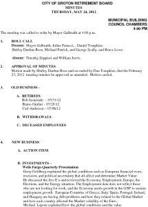 Icon of City of Groton Retirement Board 5-24-12