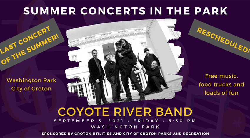 Concerts in the Park - Coyote River Band @ Washington Park