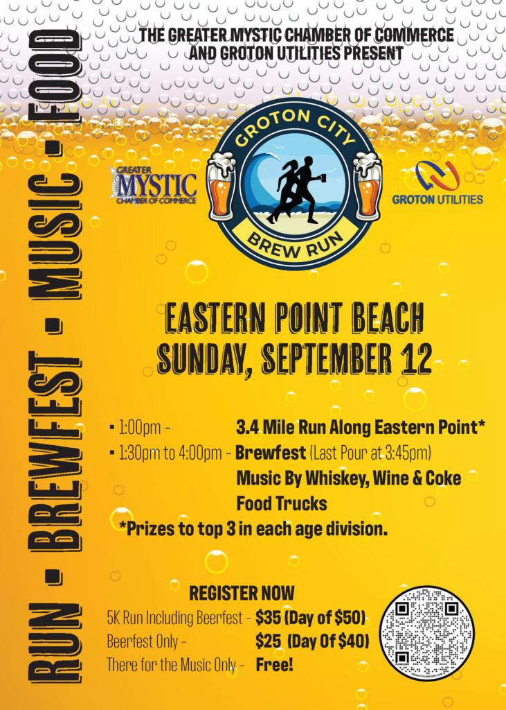Groton City Brew Run @ Eastern Point Beach